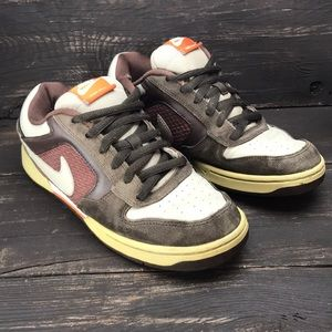 Nike Skeet Brown Leather Slate Shoes Size 8